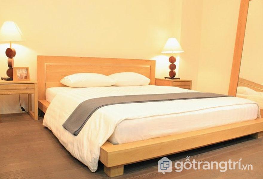 Mẫu giường ngủ giá rẻ 1 triệu đến 5 triệu: Gỗ xoan đào