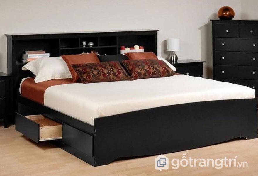 Mẫu giường ngủ giá rẻ 1 triệu đến 5 triệu: đen trắng sang trọng