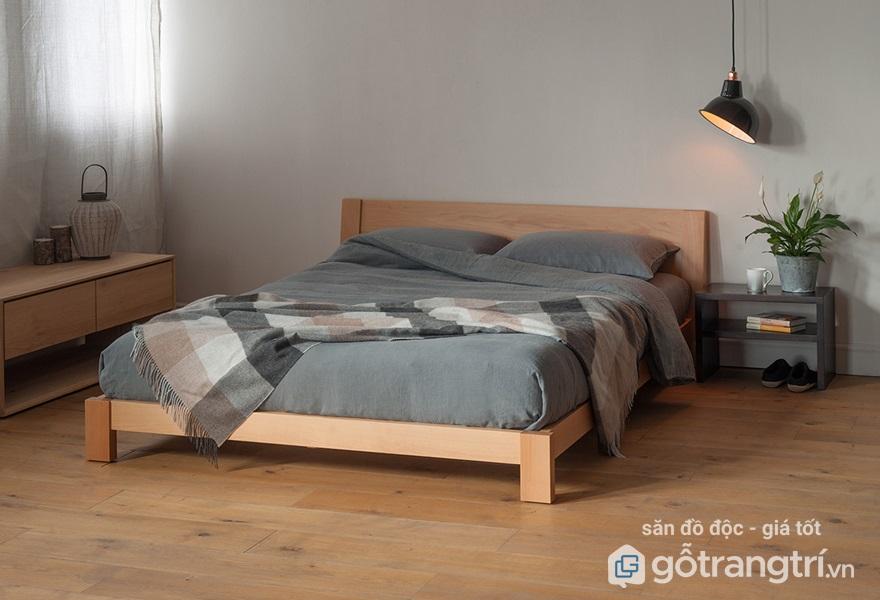 Giường ngủ gỗ sồi có tốt không? - Ảnh giường ngủ gỗ sồi 3