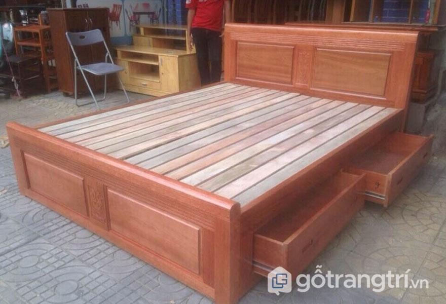 Giường ngủ gỗ xoan đào có tốt không? Giá thành hợp lý