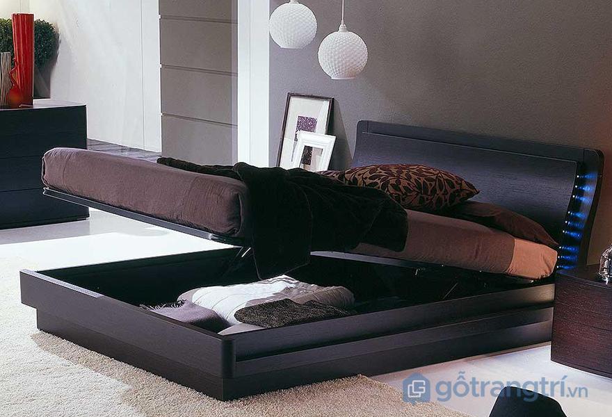 Giường ngủ không chân có kiểu dáng thanh lịch, màu sắc sang trọng và ấn tượng