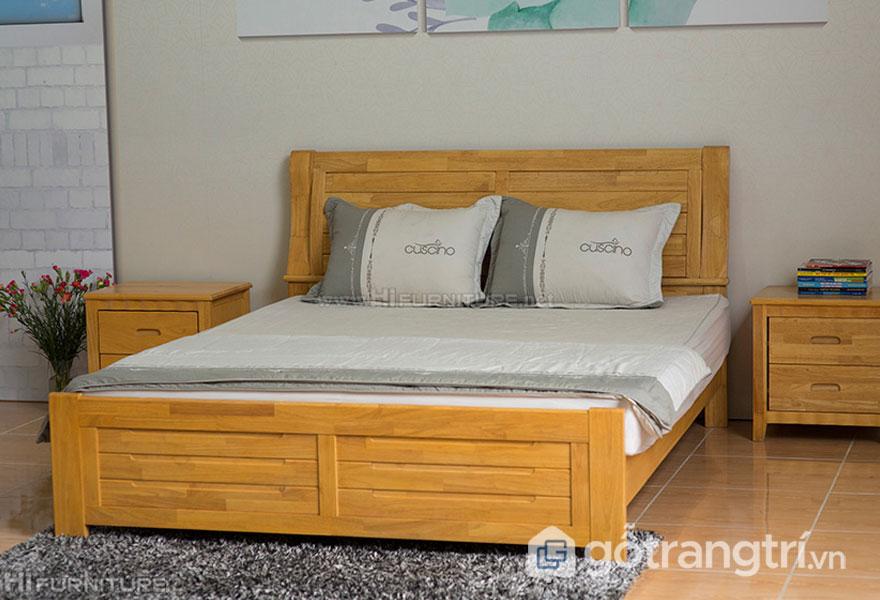 Giường ngủ nên làm bằng gỗ gì: Gỗ tự nhiên