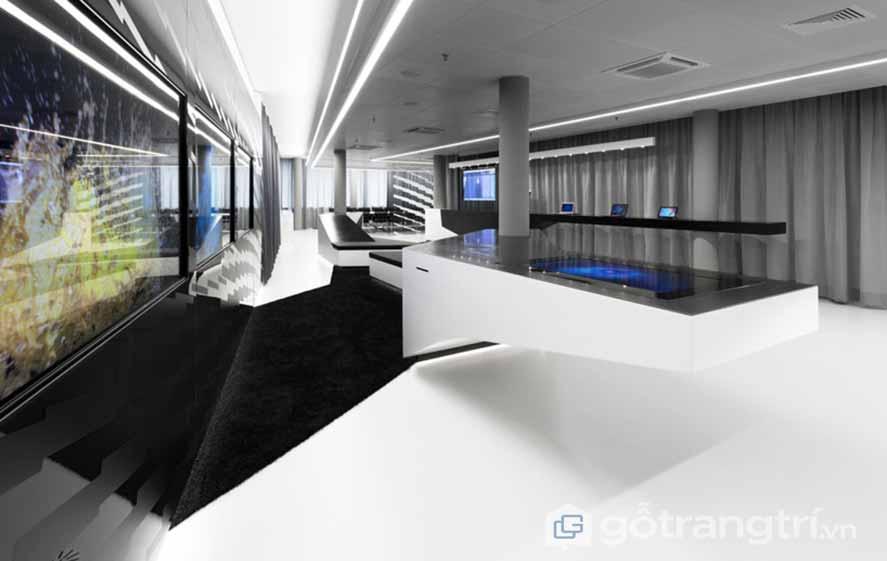 Thiết kế nội thất văn phòng phong cách Hitech hiện đại