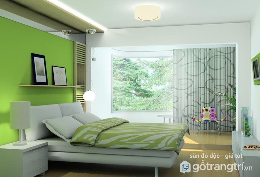 Đối với gia chủ thuộc mệnh Mộc giường ngủ nên phối màu xanh - Ảnh: Internet