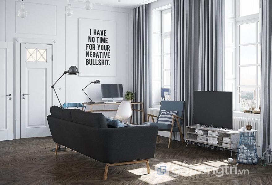 Sofa được thiết kế đơn giản