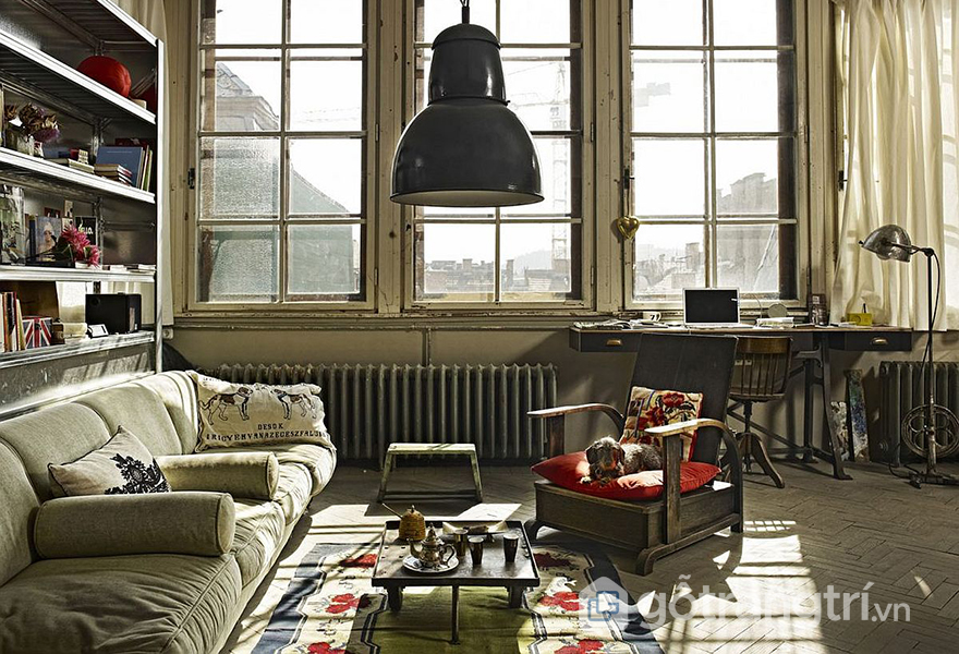 Không gian căn hộ nhuốm màu thời gian