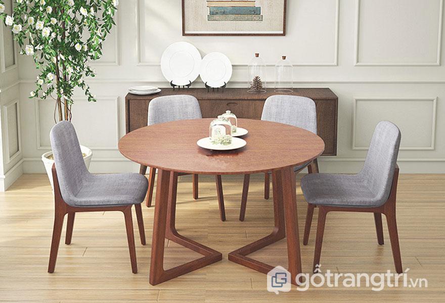 Kích thước bàn ăn 4 người hình tròn
