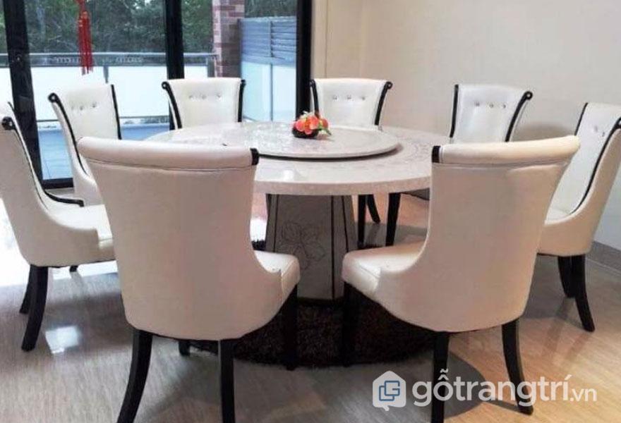 Kích thước bàn ăn 8 người: Hình tròn