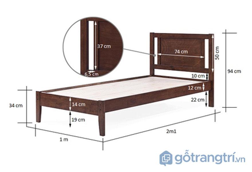 Kích thước giường ngủ theo phong thuỷ: Giường ngủ đơn