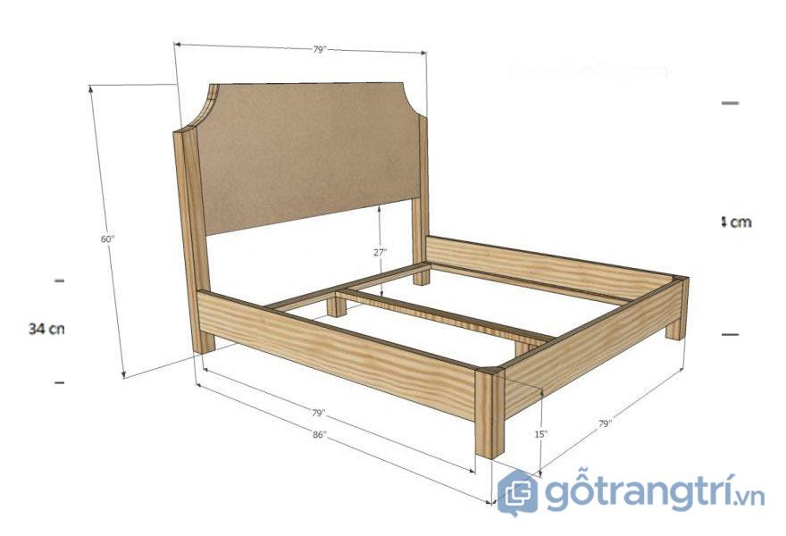 Kích thước giường ngủ theo phong thuỷ:Giường ngủ đôi