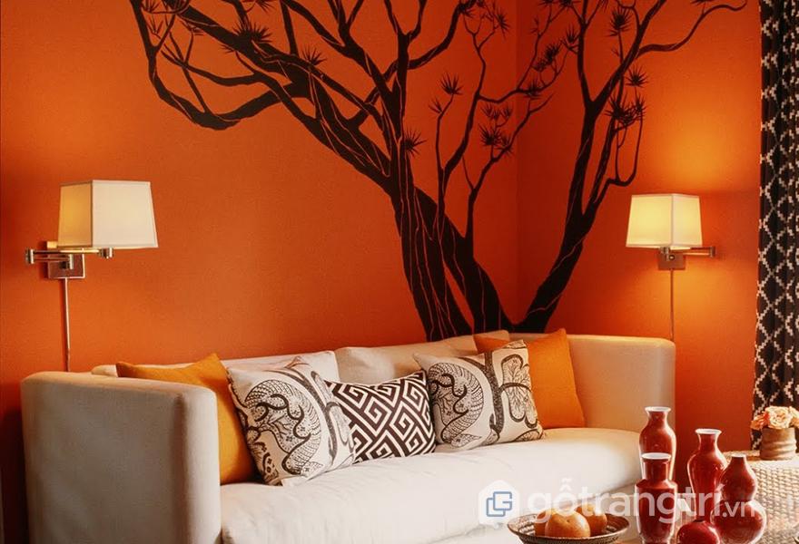 Kết hợp màu cam với màu be