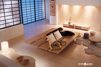 10 mẫu bàn trà gỗ Nhật đẹp đậm chất phong cách trà đạo