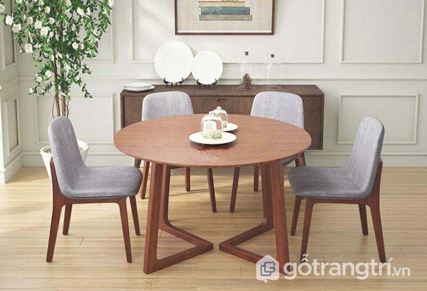 Mẫu bàn ăn đẹp hiện đại: Bàn ăn tròn
