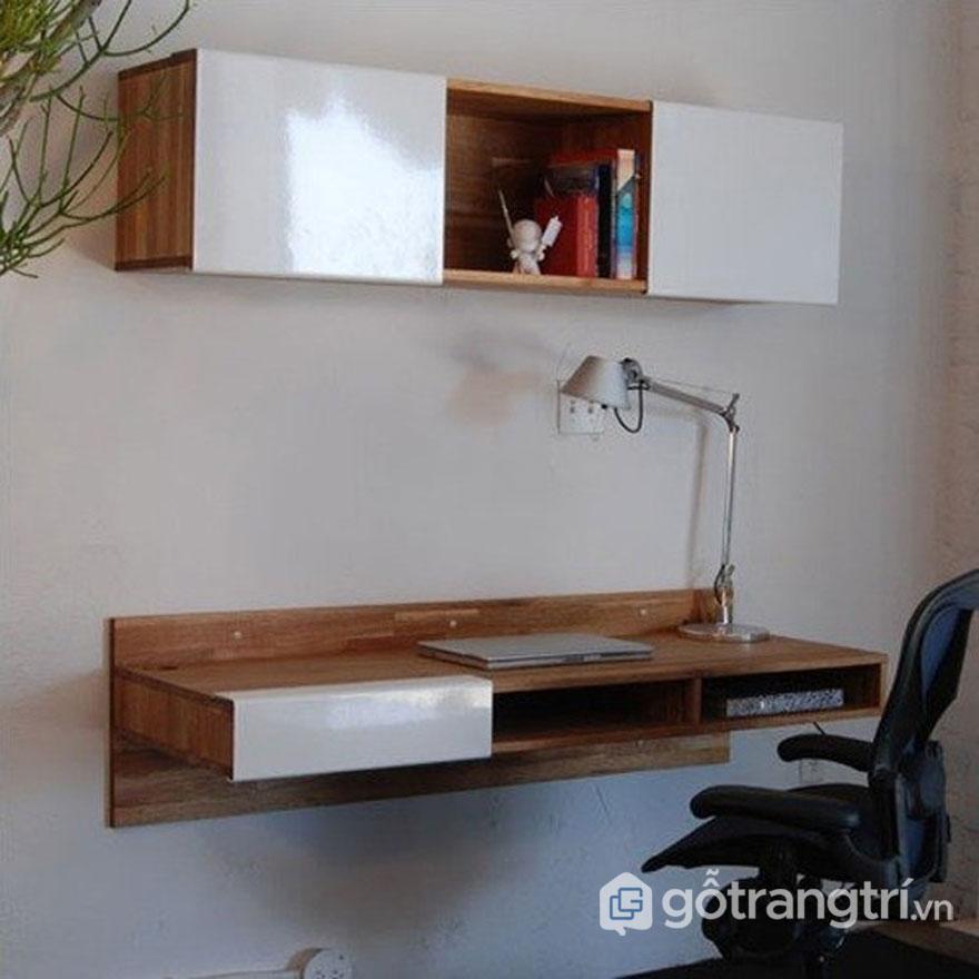 Mẫu bàn làm việc đẹp gắn trên tường