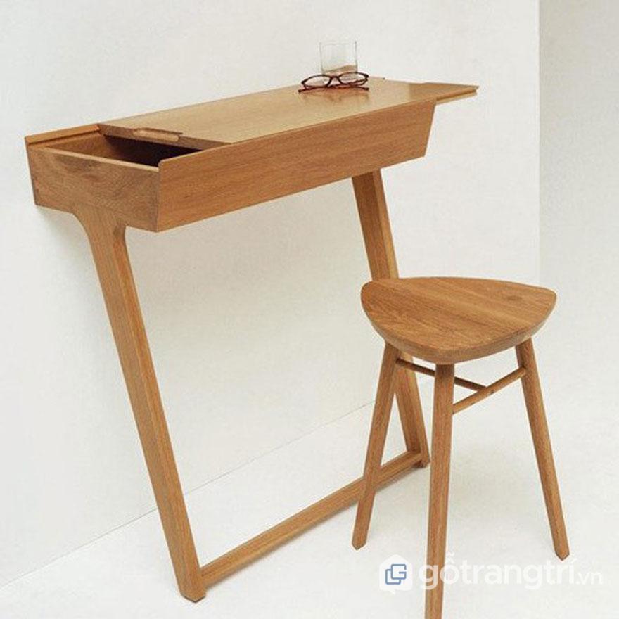 Mẫu bàn làm việc đẹp với hai chân độc đáo