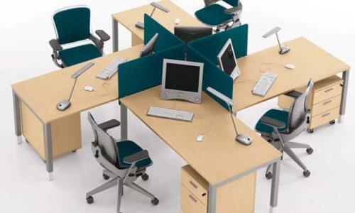 Gợi ý những mẫu bàn làm việc hiện đại cho nhân viên văn phòng