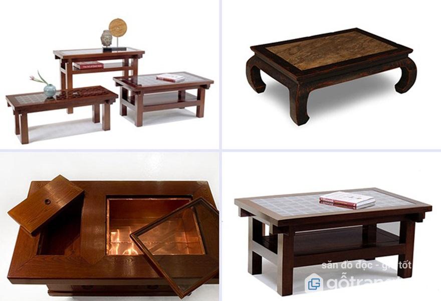 Những mẫu bàn trà gỗ đẹp nhất 2018 - Bàn trà gỗ kiểu Nhật