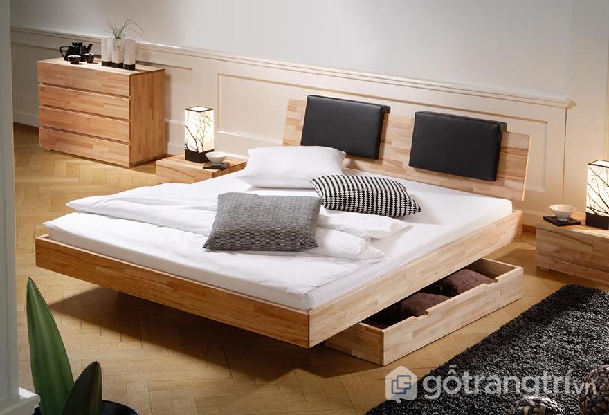 Mầu giường ngủ đẹp có ngăn kéo giúp tiết kiệm diện tích tối đa cho căn phòng