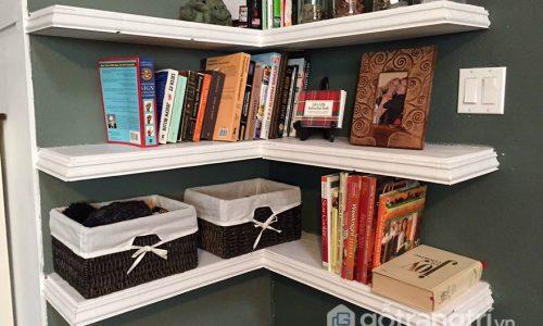 Mẫu kệ sách góc tường – hóa giải hiệu quả các góc chết trong phòng