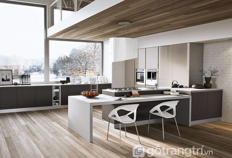 Sự tiện nghi được thể hiện rõ nét trong thiết kế căn bếp dành cho dạ tiệc