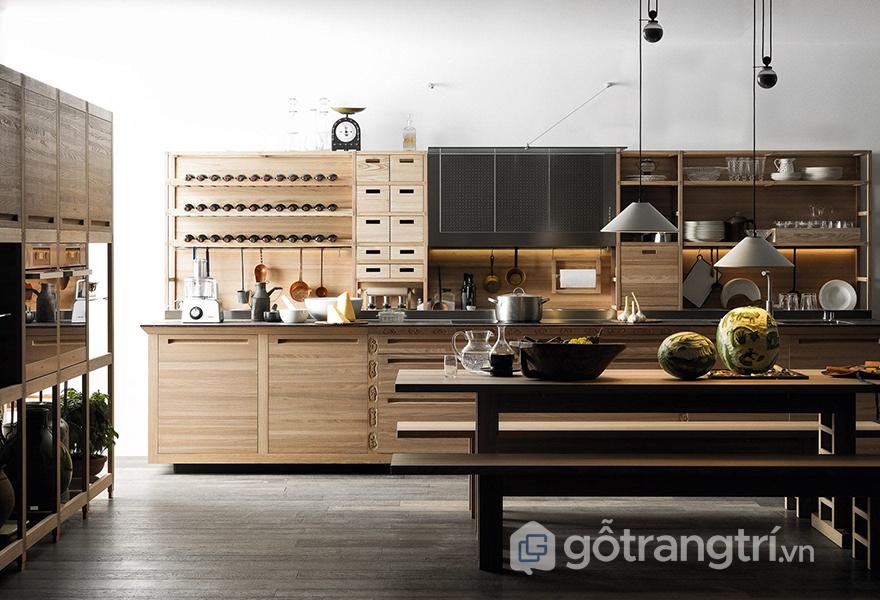 Tổng thể căn bếp truyền thống kiểu mới phong cách châu Âu