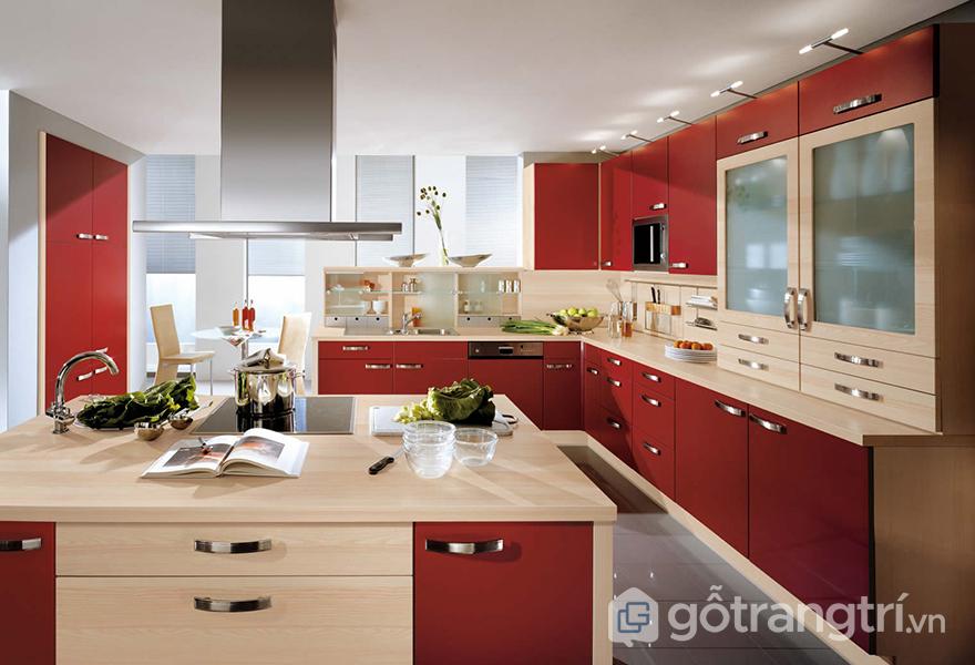 Thiết kế tủ bếp hiện đại mang giá trị thẩm mỹ cao