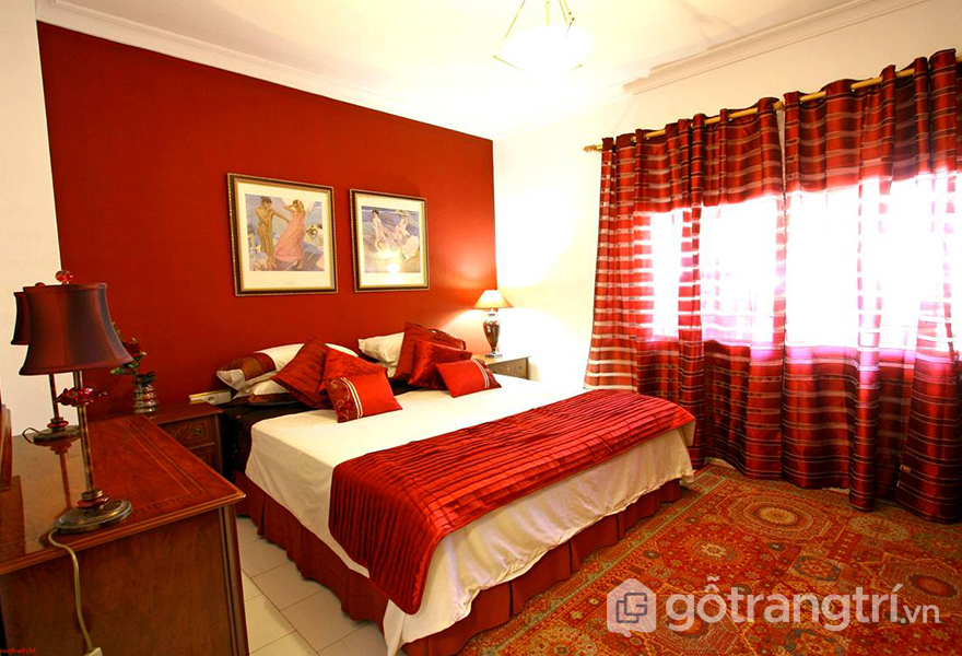 Phòng cưới màu đỏ mang lại may mắn và hạnh phúc