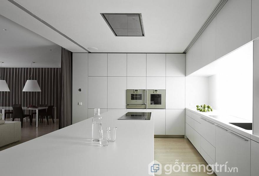 Không gian phòng bếp mang phong cách tối giản