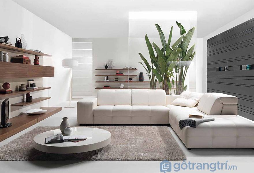 Phong cách hiện đại với tông màu trắng