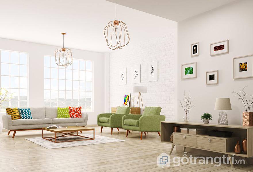 Luôn sử dụng những màu tươi sáng cho căn hộ