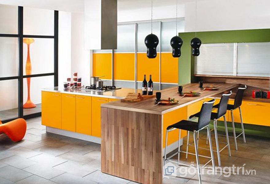 Sử dụng màu sắc yêu thích trong căn bếp của bạn