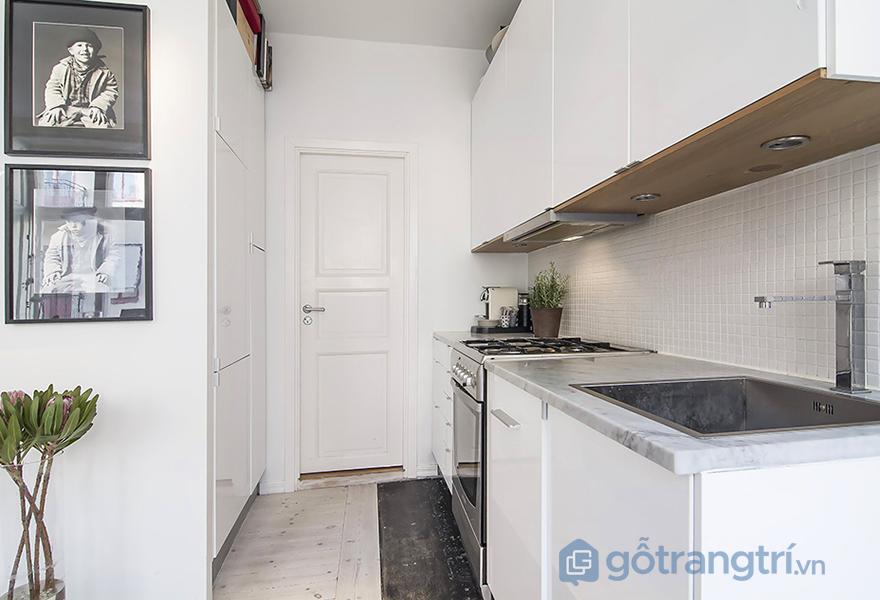 Không gian nấu nướng trong căn hộ