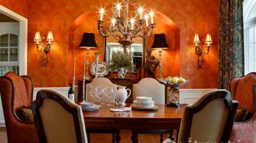 Ý tưởng đột phá thiết kế phòng ăn ấm cúng với tông màu cam