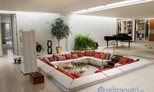 """Chiêm ngưỡng những thiết kế phòng khách """"lõm"""" siêu độc đáo"""