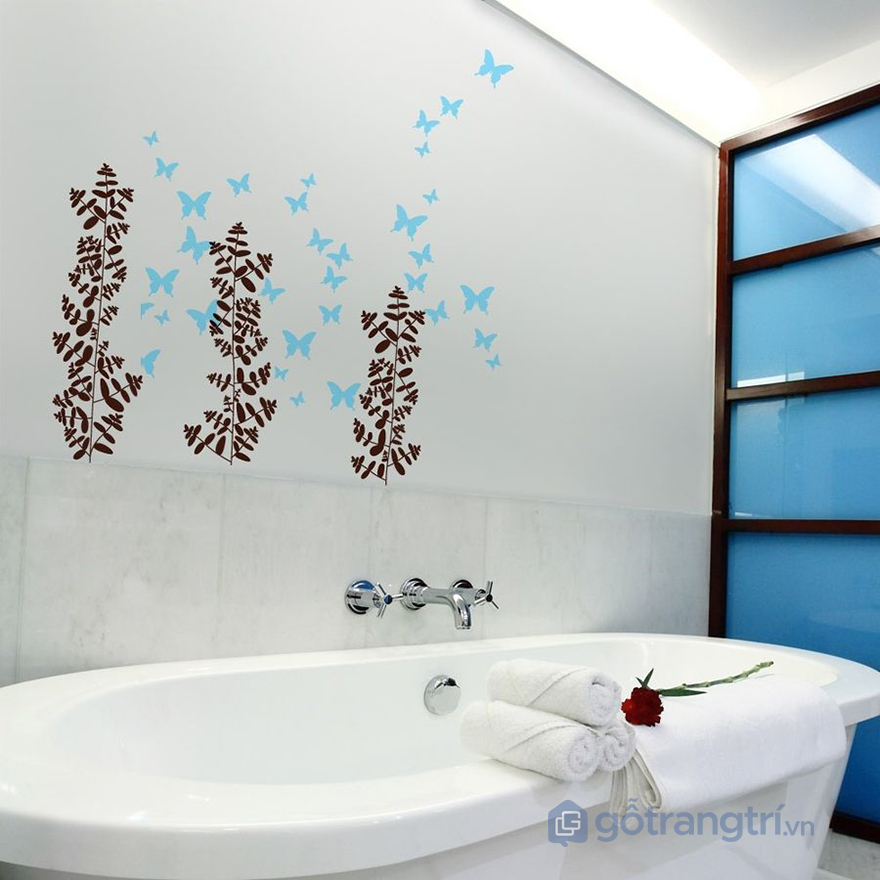Không gian phòng tắm mát mẻ