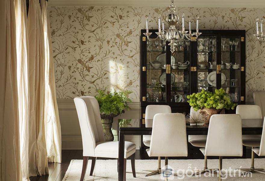 Không gian hài hòa với những họa tiết mang phong cách Chinoiserie