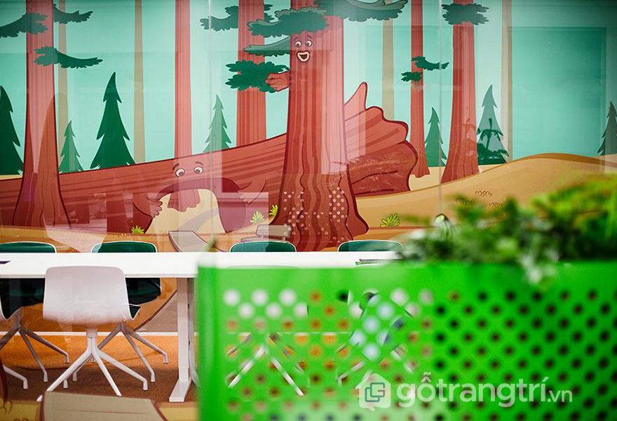 Thiết kế văn phòng được lấy bối cảnh trong game