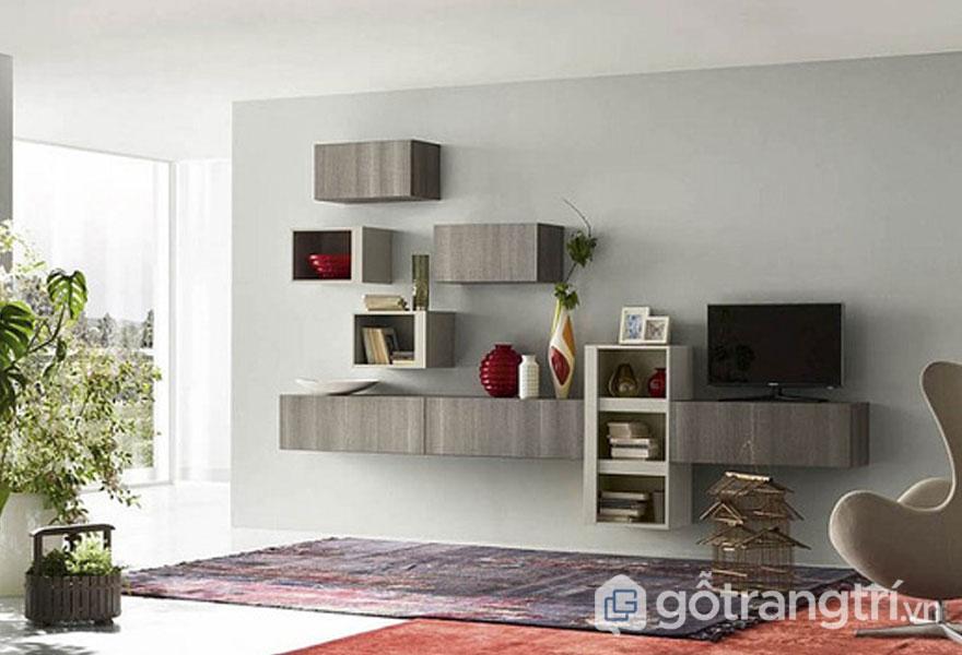 Các mẫu kệ sách treo tường đẹp: Đơn giản