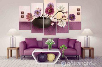 Mách bạn lựa chọn và cách bố trí tranh treo tường phòng khách nhỏ