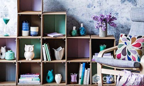 Hướng dẫn cách làm kệ đựng sách bằng giấy carton cực đơn giản