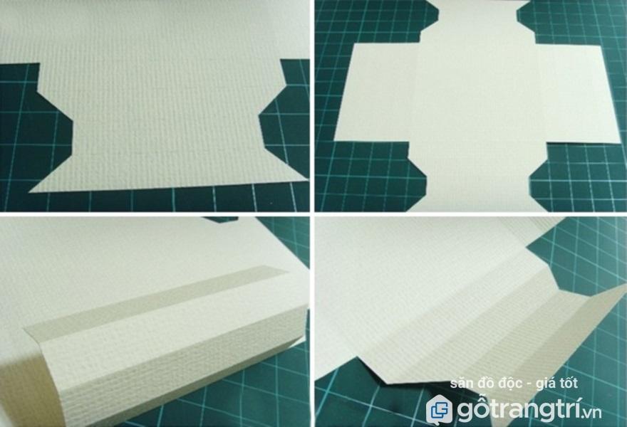 làm khung ảnh treo tường bằng giấy