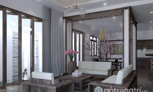 Nét mộc mạc toát lên từ những món đồ nội thất gỗ tự nhiên trong căn hộ