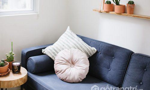 Gối tựa tròn – xu hướng mới trong trang trí nội thất hiện đại