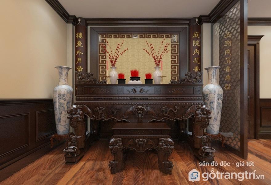 bài trí bàn thờ nhà chung cư