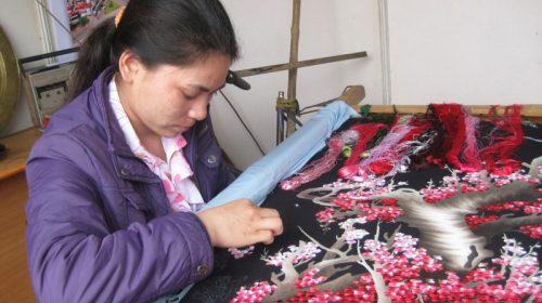 Những thăng trầm của làng thêu Minh Lãng thuộc tỉnh Thái Bình
