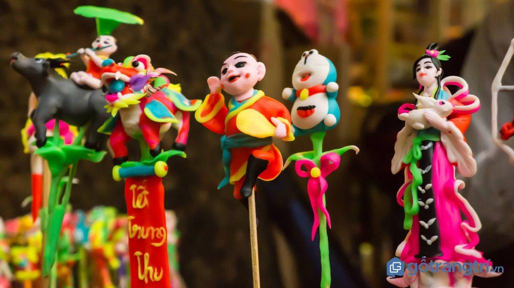 Sản phẩm tò he của nghệ nhân làng tò he Hà Dương rất đa dạng