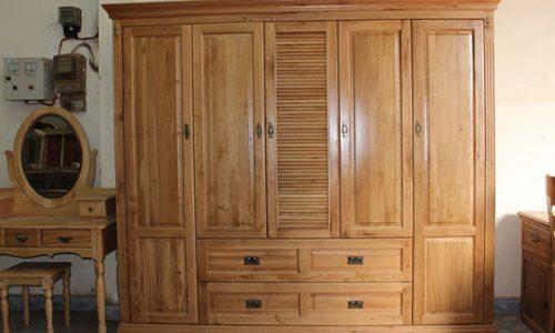 Những mẫu tủ quần áo gỗ tự nhiên đẹp và được yêu thích nhất 2018