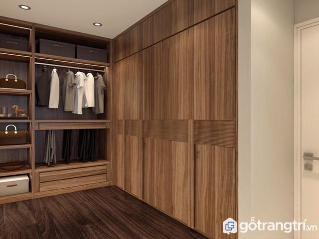 """Mẫu tủ quần áo gỗ tự nhiên từ gỗ óc chó thích hợp với những gia đình có ngân sách """"rủng rỉnh"""""""