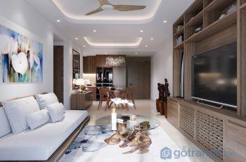 Khám phá căn hộ đẳng cấp với toàn bộ nội thất làm từ gỗ tự nhiên