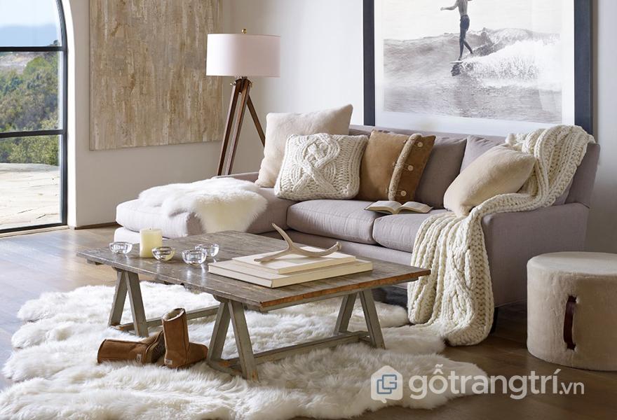 Phong cách Happy Hygge trong thiết kế nội thất với chất liệu vải mềm mại